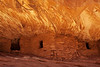"""House On Fire""<br /> <br /> Here is a famous image of an Anasazi Ruin that is a 1.2 mile hike into Mule Canyon Utah. I have wanted to take this image for a while. After leaving Canyonlands National Park for a early sunrise of Mesa Arch, this was a 2 hour drive south...<br /> <br /> I arrived in late morning for the best reflected light. It bounces off the lower rocks in front of the ruins that cast the best light on the upper ""roof"" that creates the effect of fire. <br /> <br /> It was a special moment walking up on this place. <br /> <br /> I spent 2 hours  resting, photographing and visiting with some other folks who made the same hike just ahead of me...<br /> We all had great conversation and exchanged personal information. <br /> Photographers are some of the nicest people that you will meet on the trail..."