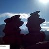 Top of Siamese Twin rock