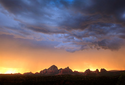 Monsoon Over Sedona's Iconic Landmarks