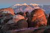 La Sal Mountain at sunset
