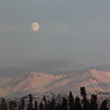 Moon Over Chugach Mountains