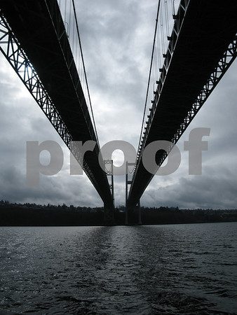The Two Narrows Bridges from Below
