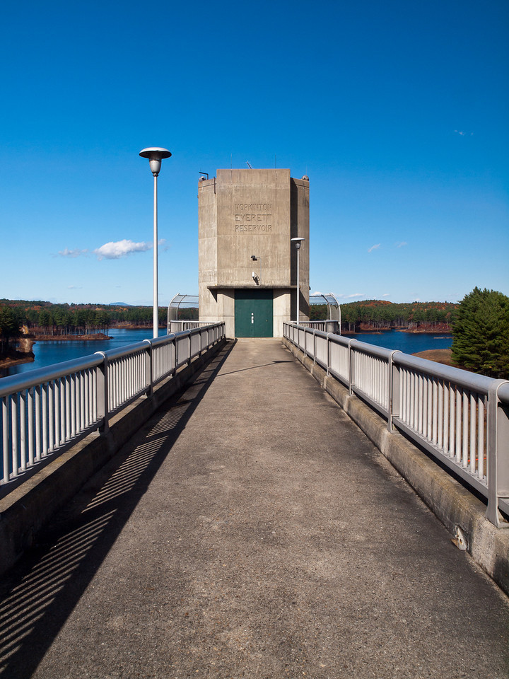 The tower head on at the Hopkinton-Everett Dam.