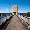 The tower head on at the Hopkinton-Everett Dam.