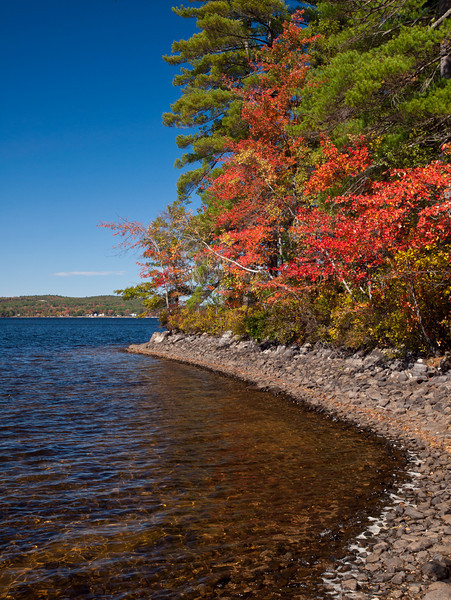 Autumn on the shores of Lake Massabesic in Manchester, NH.