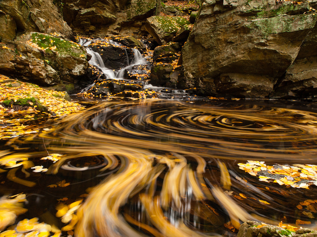 The pool at Senter falls on Cold Brook explodes in psychedelic mahem.