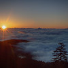Sunrise above the clouds at Clingmans Dome