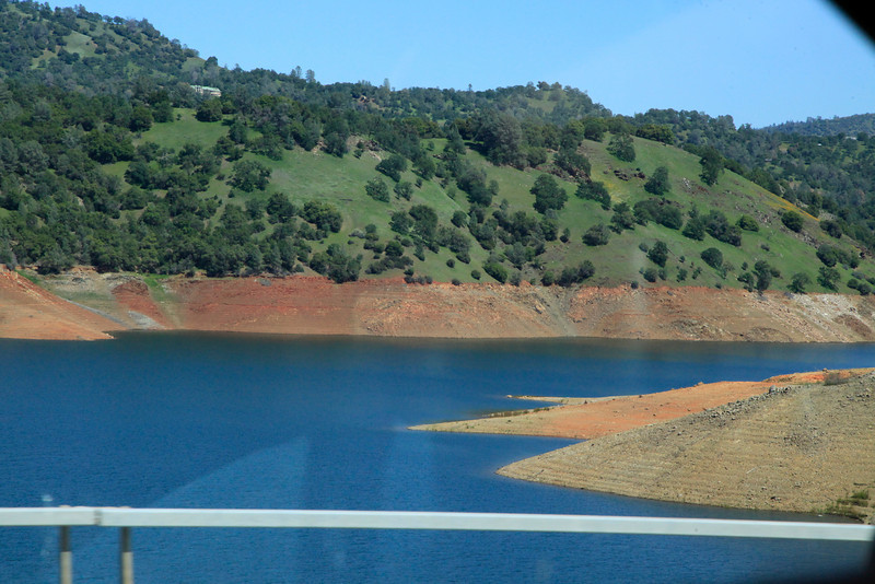 Don Pedro Reservoir low on April 7, 2014.
