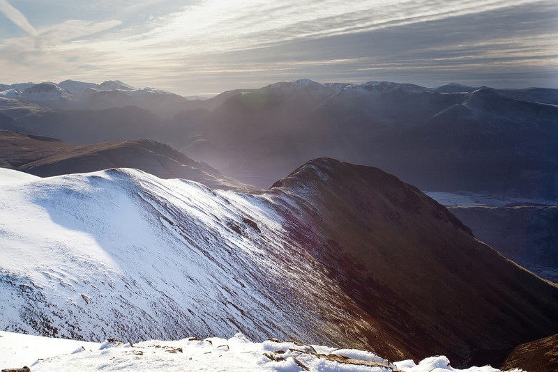 Scafells from Grasmoor