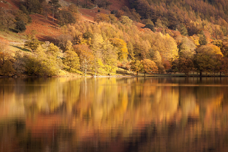 Buttermere Reflections in late afternoon light