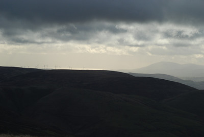 The Solway Firth can be seen away in the distance as can Criffel and the wind farm at Dalswinton. This shot was taken from Black Hill,Durisdeer in late November 2008.