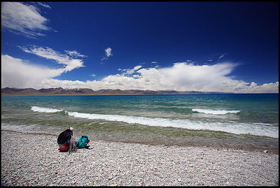 Lady Resting on the Shore of Lake Namtso