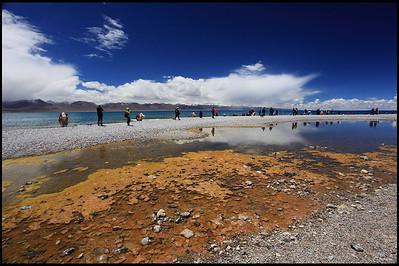 Reflection, on the shore of Lake Namtso