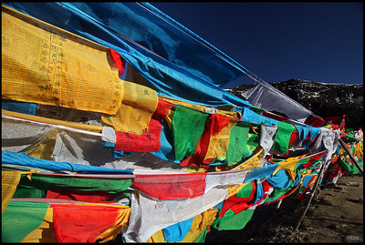 Colorful Prayer flags, Nyingchi
