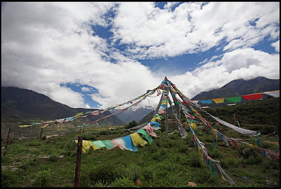 Prayer flags in Yarlung Tsangpo Grand Canyon