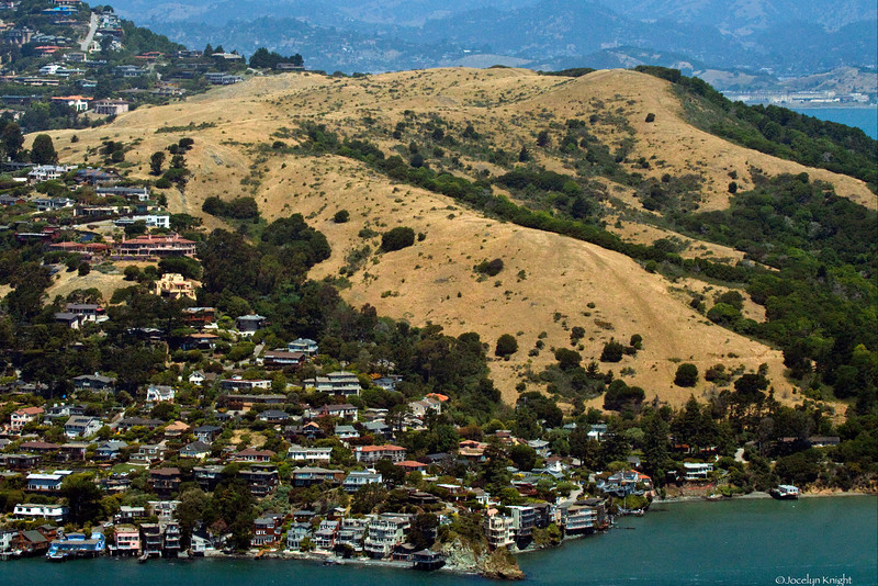 The Martha Property  on the ridge of Old Tiburon as seen from Angel Island State Park across Raccoon Strait, in the San Francisco Bay, California on June 26, 2011.(Jocelyn Knight Photo)
