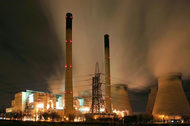 Ferrybridge Power Station At Night
