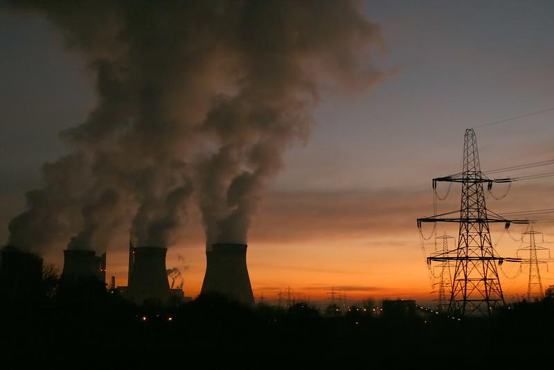 Ferrybridge Power Station Sunset