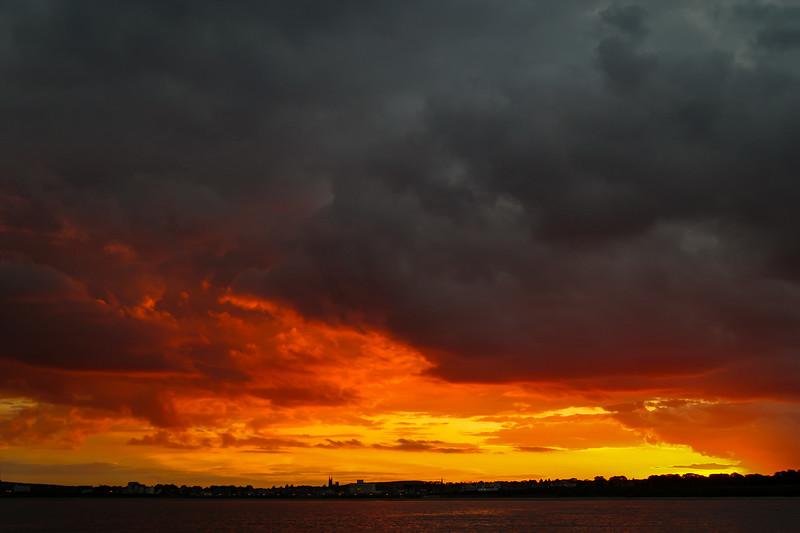 Sunset over North Bay, Bridlington