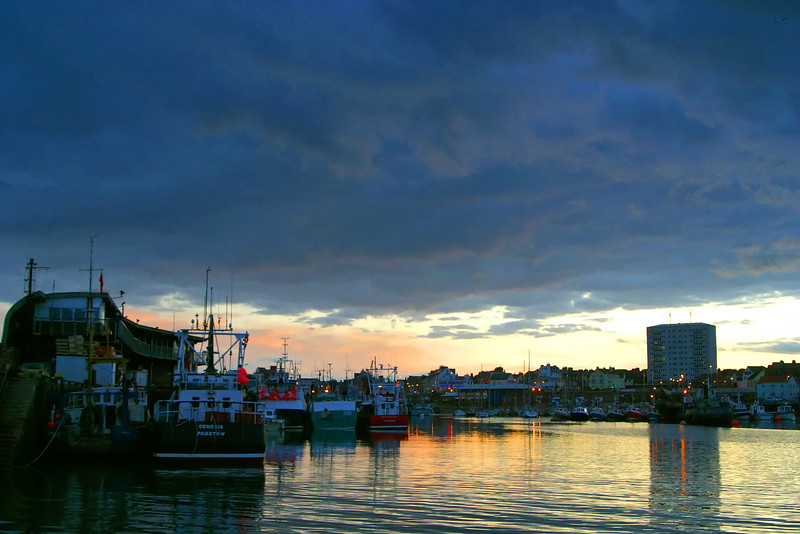 Bridlington Harbour at Dusk