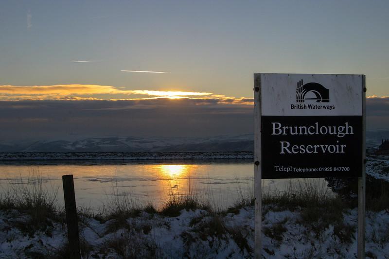 Brunclough Reservoir Sunset