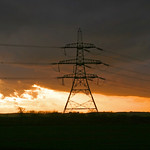 Kellingley Pylon Dusk