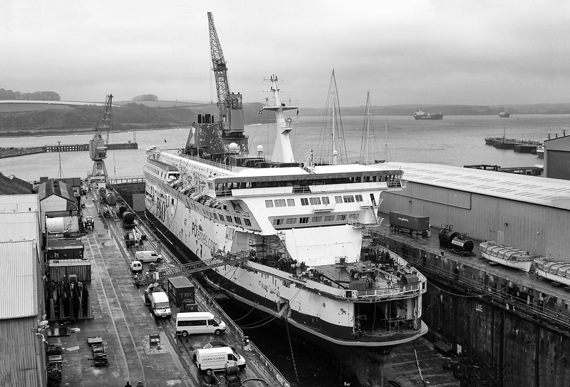 Pride of Dover at Falmouth Docks