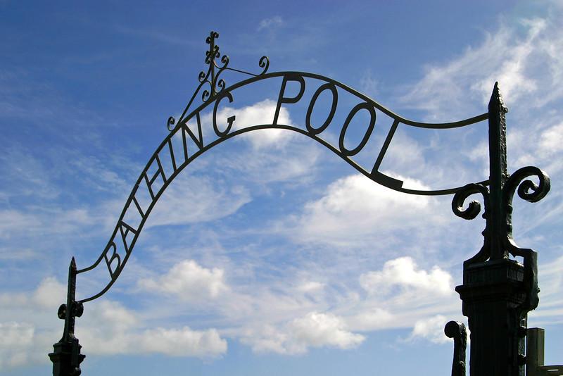 Penzance Bathing Pool Ironwork