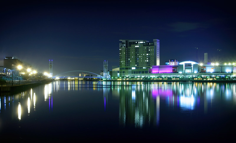 Salford Quays Lifting Bridge, Imperial Wharf & Quays Outlet