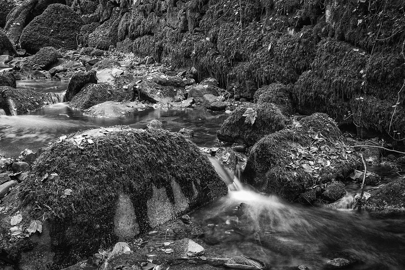 Kennall Vale Water over Rocks