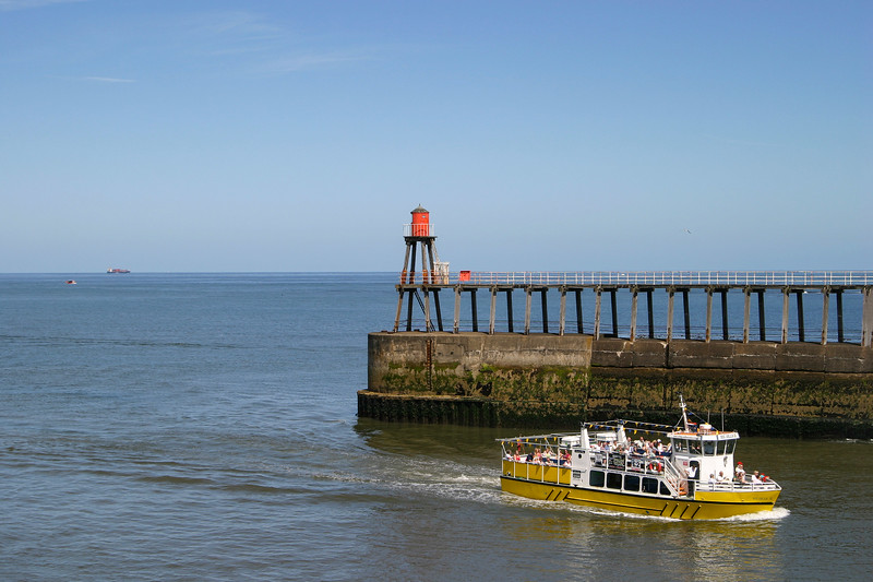 Esk Belle at Whitby Harbour Mouth