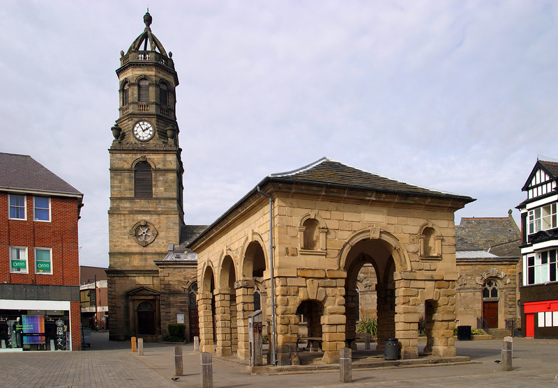Buttercross & St Giles' Church, Pontefract