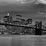 New York - Brooklyn Bridge & Skyline at Dusk, 19-11-2007 (IMG_1204) Nik SEP2 - Full Contrast & Structure 4k