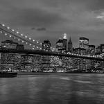 New York - Brooklyn Bridge & Skyline, 19-11-2007 (IMG_1209) Merge with IMG 1208 Nik SEP2 - High Str Hsh 4k