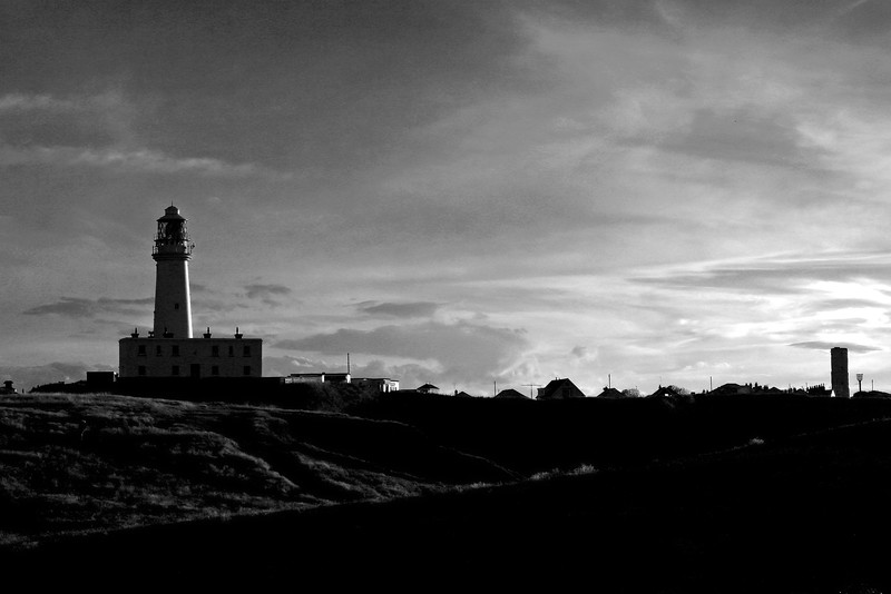 Flamborough Lighthouses (B&W)