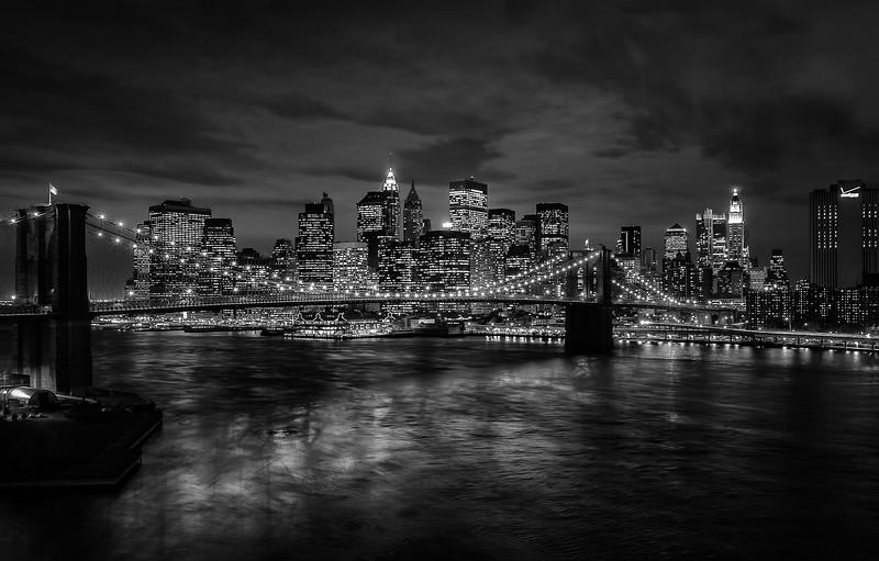 New York - Brooklyn Bridge & Skyline from Manhattan Bridge, 19-11-2007 (IMG_1317) Nik SEP2 High Structure Smooth 4k
