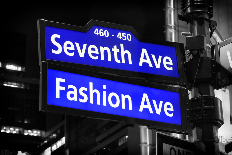 Seventh Avenue Fashion Avenue Signs
