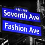 Seventh Avenue Fashion Avenue Signs