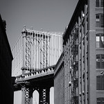 New York - Washington Street, Brooklyn & Manhattan Bridge, 26-10-2008 (IMG_2825) Nik CEP4 - Paper Toner Cool 4k