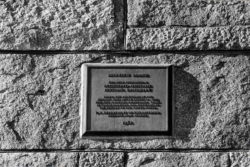Brooklyn Bridge Plaque
