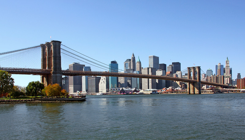 Brooklyn Bridge & New York Skyline
