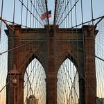 Brooklyn Bridge Tower, Dusk
