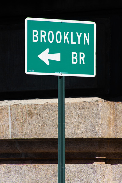 New York - Brooklyn Bridge Sign, 26-10-2008 (IMG_2831) 4k