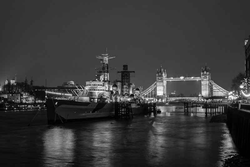 HMS Belfast & Tower Bridge, London