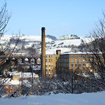 Crimble Viaduct & Spectrum Yarns Mill, Slaithwaite
