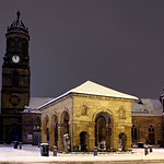 Pontefract Town Centre in Snow