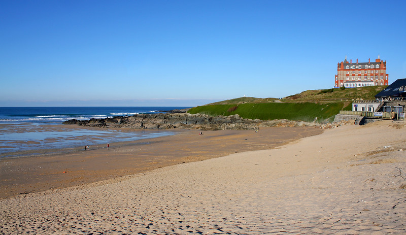 Fistral Beach, Newquay in January