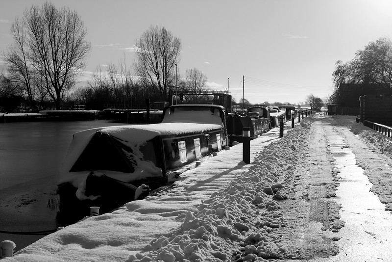 Whitley Lock in Snow