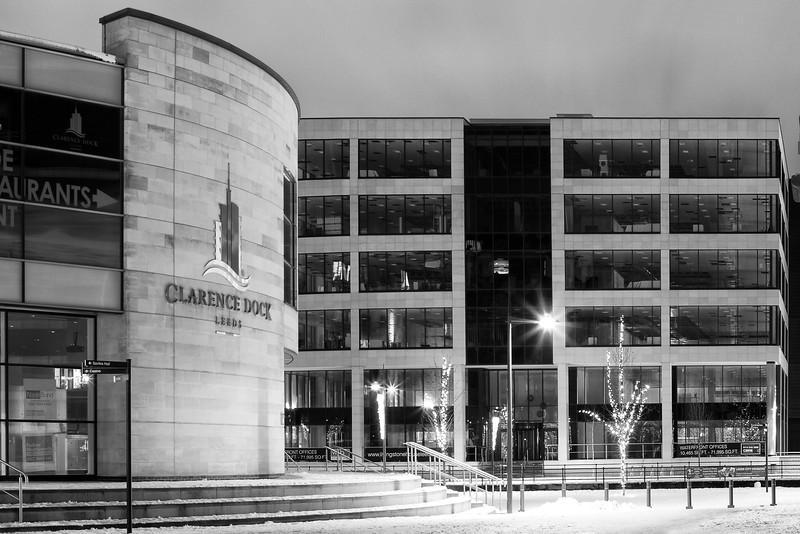 Clarence Dock, Leeds in Snow