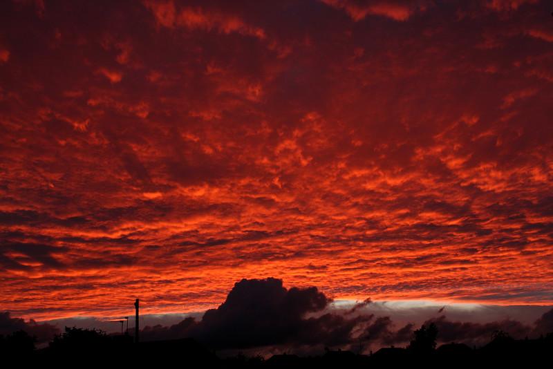 Pontefract Sunset at 21:43